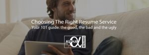Blog post Choosing the right resume service 1